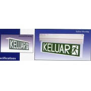 PNE PEX138,PEX138R,PEX138LED,PEX138RLED Self-Contained Emergency Keluar Sign (Slim Design)